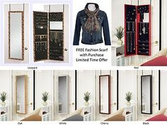 Wall Mounted Jewelry Armoire With Mirror jewelry armoire mirror wall mount door hanging jewelry cabinet