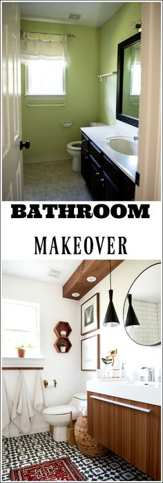 This bathroom transformation is to die for! Check the details and you will be blown away!!