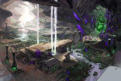 ArtStation - Greenheart cave, Victoriya Anda