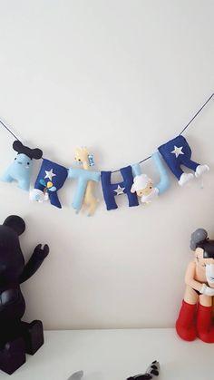 Animal Theme name banner  #mouse #sheep #giraffe #felt # handmade