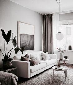 Home Living Room, Interior Design Living Room, Modern Living Room Designs, Studio Interior, Interior Livingroom, Living Room Brown, Interior Home Decoration, Apartment Living, Beige Carpet Living Room