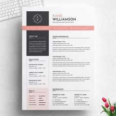 Professional resume cv template modern resume template 120430 is designed to showcase your skills and experience in a sleek way the template is always easy to fill out save time and effort Resume Tips, Resume Cv, Resume Examples, Great Resumes, Business Resume, Resume Ideas, Mise En Page Portfolio, Portfolio Web, Cv Design Template