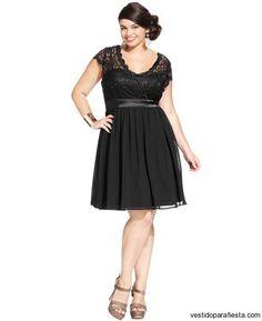 Vestidos cortos de encaje color negro para gorditas 2015 – 13 - https://vestidoparafiesta.com/vestidos-cortos-de-encaje-color-negro-para-gorditas-2015/vestidos-cortos-de-encaje-color-negro-para-gorditas-2015-13/