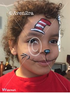 Dr Seuss face painting quick design #Aven2ra