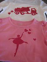Easy DIY valentine's freezer paper stencil shirts