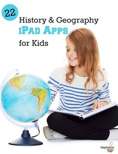 22 history and geography apps for Kids. I thought this would be useful especially since we are moving into having ipads in the classroom.