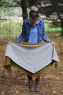 Honeycomb cables make up this squishy, beautifully textured shawl that you will want to wrap up in all fall and winter long! Woolen spun yarn helps keep this worsted weight shawl light as air. This pattern includes instructions for both a full size shawl and a shawlette! I love draping the shawlette over my shoulders or wrapping it around my neck and securing it with my favorite shawl pin! The full size shawl is perfect for really getting cozy and wearing it in a number of different styles!