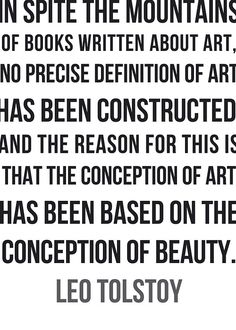 tolstoy definition of art