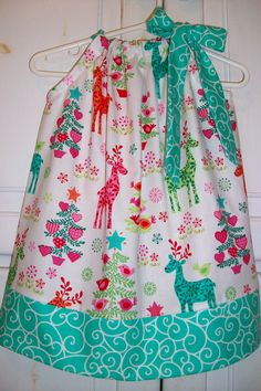 Pillowcase Dress CHRISTMAS Nordic Holiday Michael Miller baby toddler girl on Etsy, $20.00