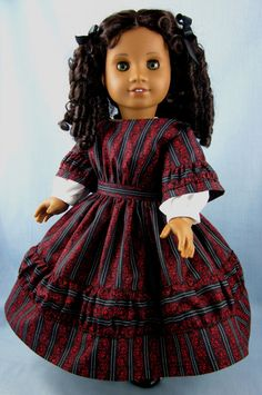 1850s Dress for American Girl Cecile or Marie by SewMyGoodnessShop, $35.00