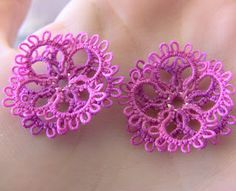 Tatting it Up: 3-D Flower Earring Pattern and Golden Star Earring Pattern Pattern