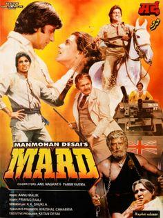 Mard Hindi in HD - Einthusan Bollywood Posters, Bollywood Actors, 18 Movies, Good Movies, Kishore Kumar Songs, Download Free Movies Online, Vintage Bollywood, Film Movie, Hindi Movie