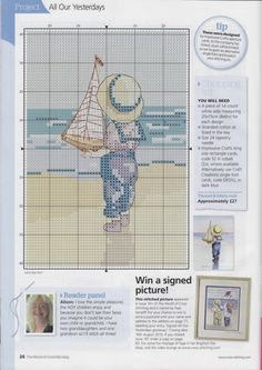 ru & Фото - The world of cross stitching 167 - tymannost Cross Stitch Sea, Cross Stitch Boards, Cross Stitch Alphabet, Counted Cross Stitch Patterns, Cross Stitch Embroidery, Kids Patterns, Quilt Patterns, Holly Hobbie, Cross Stitching