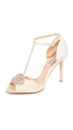 Badgley Mischka Darling T-Strap Sandals
