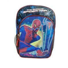 Spiderman Backpack  Blue >>> This is an Amazon Affiliate link. You can find more details by visiting the image link.