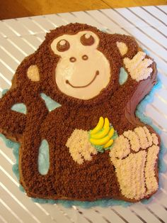 Cassie's Baby Shower Monkey Cake.  That boy has more monkey clothes and toys than anyone I know!  :)