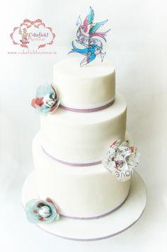 SIMPLE WEDDING CAKE by Agatha Rogowska ( Cakefield Avenue)