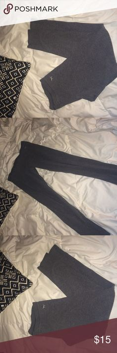 Victoria secret grey leggings yoga pants XSmall Grey leggings. NWOT. Perfect condition PINK Victoria's Secret Pants Leggings