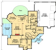 Interesting Angles - 95005RW   1st Floor Master Suite, Butler Walk-in Pantry, CAD Available, Corner Lot, Craftsman, Den-Office-Library-Study, In-Law Suite, Luxury, MBR Sitting Area, Media-Game-Home Theater, Mountain, Northwest, PDF, Photo Gallery, Premium Collection, Sloping Lot   Architectural Designs