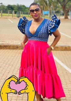 African Dresses For Women, African Wear, African Fashion, Pedi Traditional Attire, Traditional Outfits, African Traditional Wear, African Weddings, African Design, African Prints