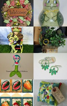 The greens of summer TEAMHAHA style by Becky McKinzie on Etsy--Pinned with TreasuryPin.com