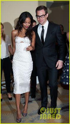 Chris Pine & Zoe Saldana: Academy Tech Awards 2013