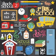 Back To School SVG Collection - $5.99 : SVG Files for Silhouette, Sizzix, Sure Cuts A Lot and Make-The-Cut - SVGCuts.com