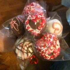 Valentines cake pops.  ;) I cannot make these fast enough for people!
