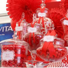 Vodafone Red Candy Buffet by The Couture Candy Buffet Company, via Flickr#candybuffet  #candy #dessertbuffet  #wedding    red and white