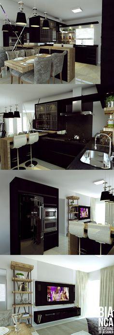 Cozinha gourmet integrada com a sala de estar!