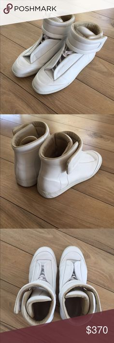 Maison Margiela Future Hi-Top Sneakers Almost brand new! Worn max 5 times. Doesn't come with the box but does have shoe bags for protection! Any questions feel free to ask! Need them gone as they're taking up space Maison Martin Margiela Shoes Sneakers
