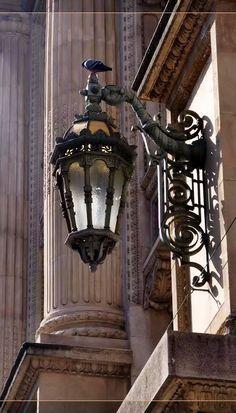 Lantern Post, Lantern Lamp, Candle Lanterns, Chandeliers, Exterior Wall Light, Vintage Lanterns, Classic Architecture, Light Of Life, Street Lamp