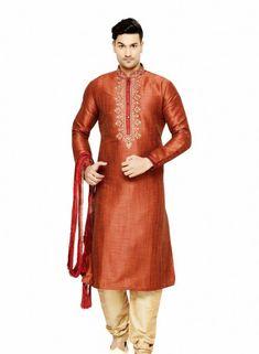 Brown Art Silk Kurta Pajama Sku 518111 0c9002e24