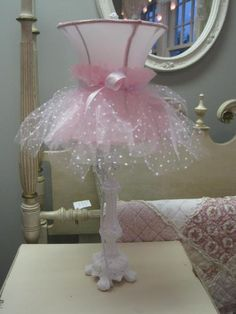 Lamp idea for THE GIRLS room... in hott pink and cheetah of course.