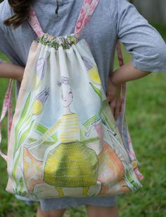(9) Name: 'Sewing : Easy Drawstring Backpack