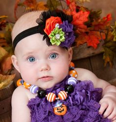 Chunky girls Halloween necklace