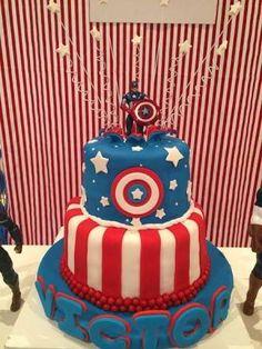 Resultado de imagem para bolo capitão america
