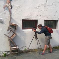 cameraman getting a closeup of a brilliant street art piece by Visit Norway, Stavanger, Dream Job, Close Up, Street Art, Art Pieces, Instagram, Artworks