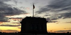 Reichstag at sunset