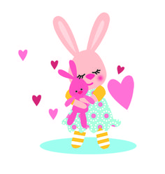 Girl rabbit with her favorite bunny from Nice To Have