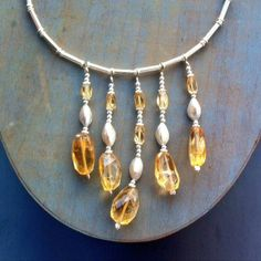 Citrine and Sterling Silver Necklace  £119.00