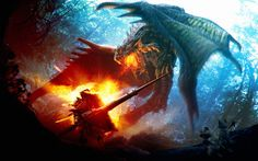 dragons breathing fire | Download Fire breathing dragon wallpaper