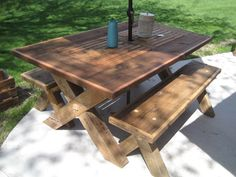 Best Barn Wood Furniture Ideas Images On Pinterest Bricolage - Barn wood picnic table