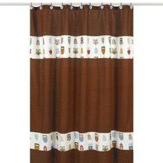 Sweet Jojo Designs Night Owl Shower Curtain - BedBathandBeyond.com