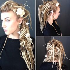 #Casino Audrey Crepin, a #makeup artist from Nice, is in Monaco with Wella prepping models for #TrendVision. Crepin softens her #dreadlocks with flowers and #highlights. by modernsalon from #Montecarlo #Monaco