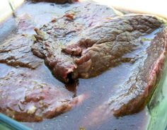 Marinade for Venison. -All the hunters in town would love a venison marinade, good man gift Venison Marinade, Cooking Venison Steaks, Venison Meat, Steak Marinades, Elk Recipes, Venison Recipes, Cooking Recipes, Game Recipes, Recipies
