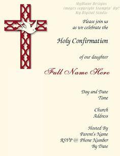Confirmation Invitation - http://mydianedesigns.blogspot.com/, Confirmation…