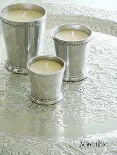 Vintage silver candles