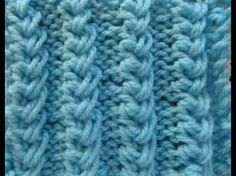 Flechtmuster - Muster stricken - basket weave - criss cross stitch - DIY by NeleC. - YouTube
