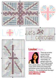 Free British motifs cross stitch pattern #stitching